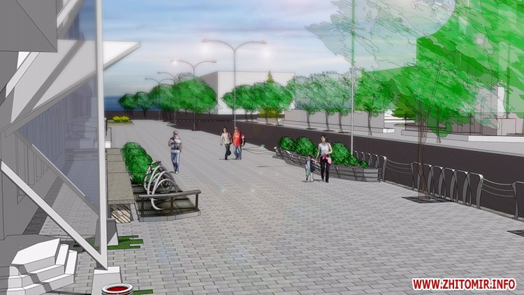 5a4103b4e369c - Реконструкція тротуарів у центрі Житомира: другий Новий рік з недокладеною бруківкою