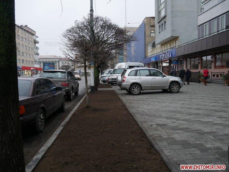 5a41041ec2870 - Реконструкція тротуарів у центрі Житомира: другий Новий рік з недокладеною бруківкою