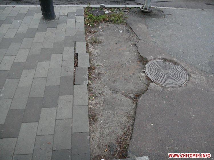 5a4104ee7a07d - Реконструкція тротуарів у центрі Житомира: другий Новий рік з недокладеною бруківкою