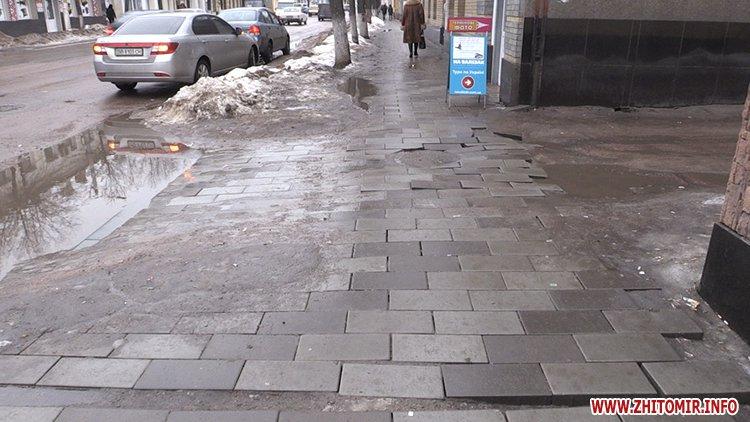 5a4105d8dd7f2 - Реконструкція тротуарів у центрі Житомира: другий Новий рік з недокладеною бруківкою