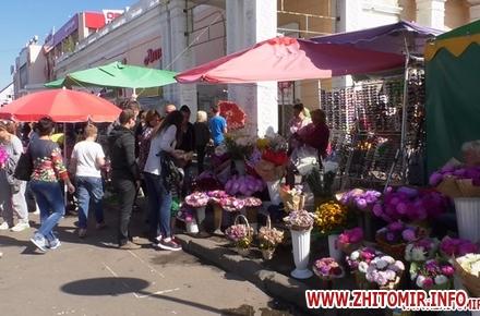 Влада Житомира хоче впорядкувати торгівлю квітами біля Житнього ринку.  Проект рішення 0fd3c990bbabf
