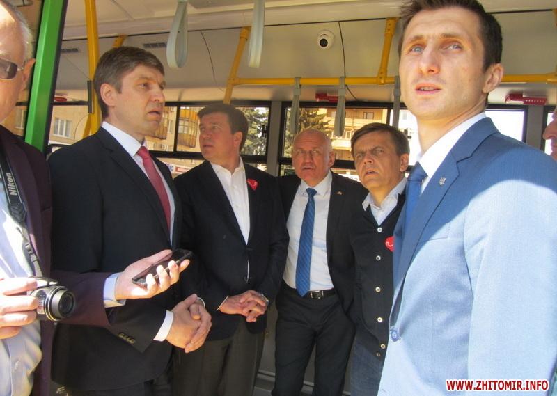 17 зеленых автобусов купил Житомир
