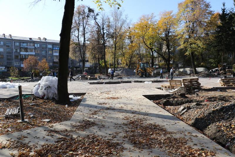 Сквер на Лятошинского в Житомире