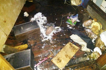 13633798e71a7d6372e2faa0224cbc2a preview w440 h290 - У Коростишеві, приборкуючи пожежу в будинку, рятувальники знайшли на ліжку неживого дідуся