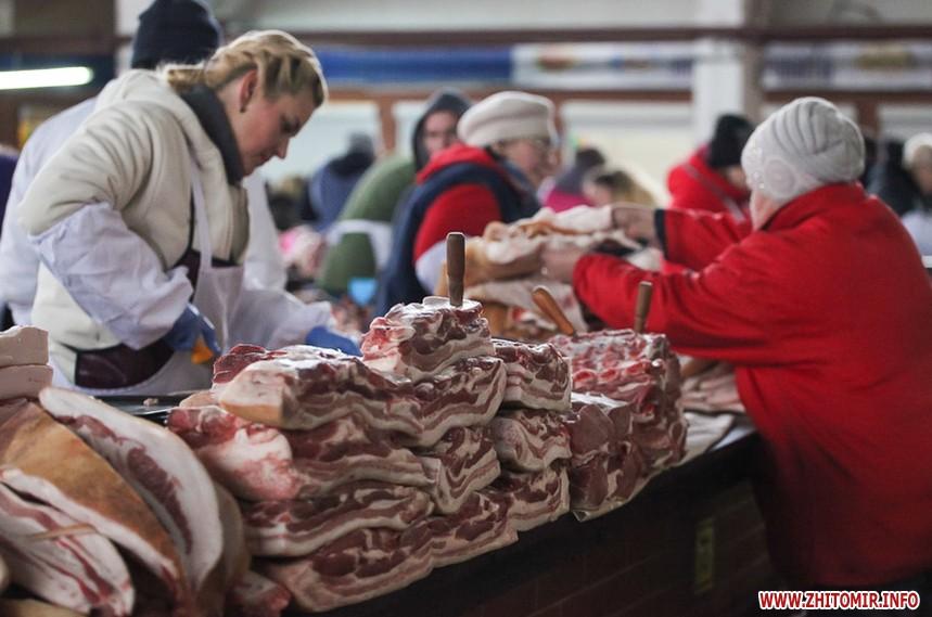 Ціни на мясо овочі фрукти в Житомирі на рику