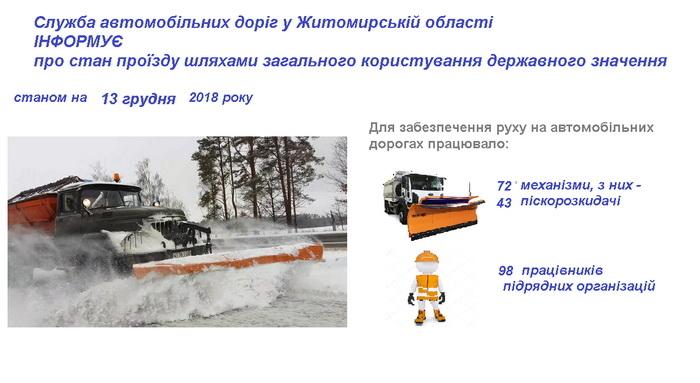 5c12139addbf4 original w859 h569 - Житомирська міськрада, Служба автодоріг і ОДА відзвітували про прибирання шляхів після снігопаду