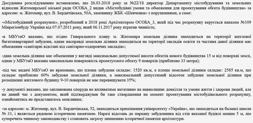 5c654383892f7 original w859 h569 - Житомирська поліція виявила порушення при видачі документів для будівництва багатоповерхівки на Великій Бердичівській