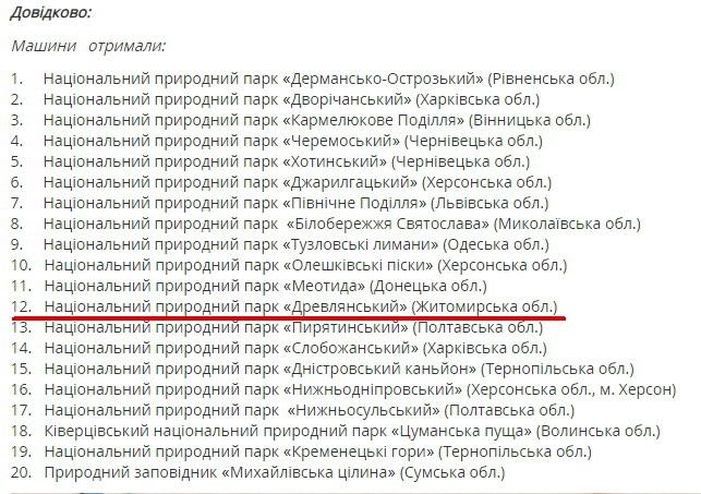 5c87bd4b1bcfe original w859 h569 - Заповідник у Житомирській області вперше за свою історію отримав спецавтомобіль від Мінприроди