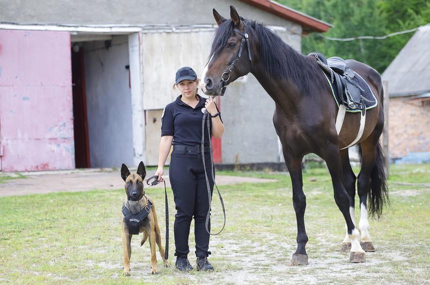 5d30874c9d71c original w859 h569 - Перша житомирська поліцейська, яка патрулює парки верхи на Ловеласі й тренує собаку Весту. Фоторозповідь
