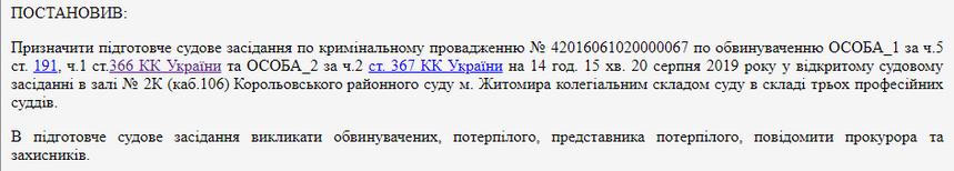 5d36d321e4684 original w859 h569 - У Житомирі відбудеться перше судове засідання по справі щодо недбальства екскерівника КП «Зеленбуд», розслідування тривало 2,5 роки