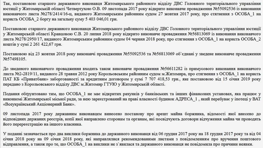 5d67b537557eb original w859 h569 - Секретарю Житомирської міськради Наталії Чиж через мільйонні борги хочуть заборонити їздити за кордон
