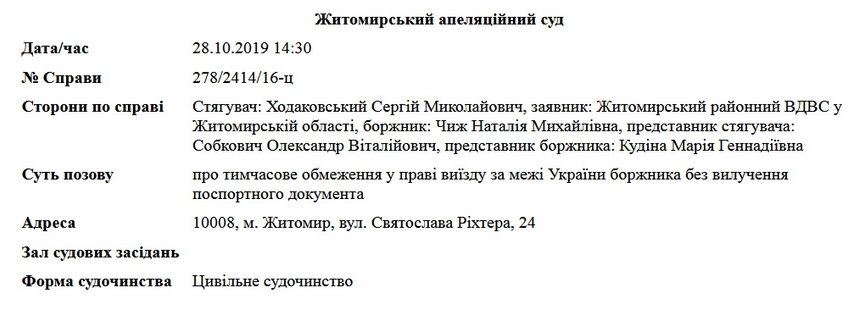 5d67b54cb6e02 original w859 h569 - Секретарю Житомирської міськради Наталії Чиж через мільйонні борги хочуть заборонити їздити за кордон