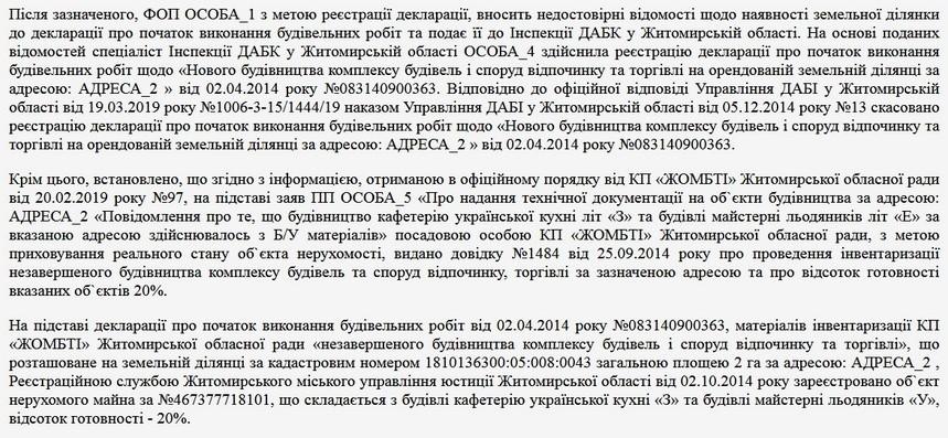 5da730adb551e original w859 h569 - У Житомирі поліція розслідує підробку документів щодо будівництва комплексу «Волна» на повернутій місту земельній ділянці
