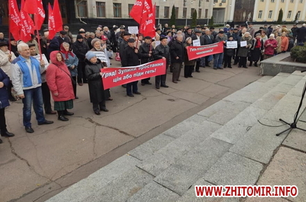 fd12fbe70dfed05063e24518d896e078 preview w440 h290 - Житомирські прихильники КПУ традиційно зібралися з червоними прапорами в річницю «соціалістичної революції»