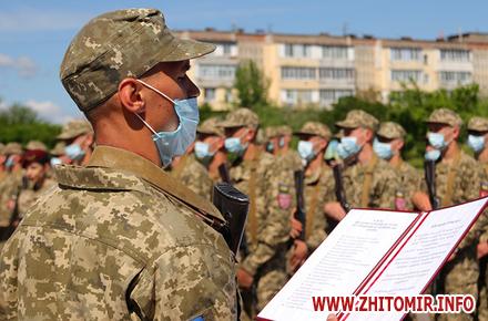 b3113efac79c1bbde78fbc4c20dfd47c preview w440 h290 - У Житомирі близько сотні молодих десантників урочисто склали військову присягу на вірність українському народові