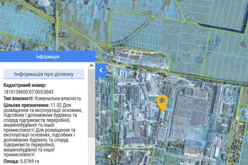 60c73ca7a350a original w859 h569 - Влада Житомира хоче виставити на аукціон дві земельні ділянки в промзоні