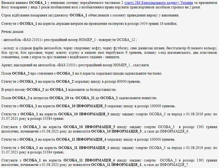610d438a2e675 original w859 h569 - У Житомирській області суд виніс вирок водієві ВАЗ, який спричинив ДТП із загибеллю пасажирки: 3 роки ув'язнення та компенсація моральної шкоди