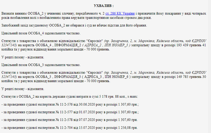61407f1fc666c original w859 h569 - Суд виніс вирок водієві фури, яка поблизу Новограда-Волинського на зустрічній смузі протаранила легковий Renault: 4 роки позбавлення волі