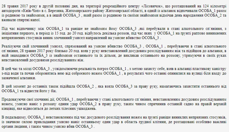 615717e3d90b1 original w859 h569 - Молодик, який під час відпочинку у «Лісовичку» поблизу Житомира, смертельно поранив чоловіка з іншої компанії, отримав 12 років ув'язнення