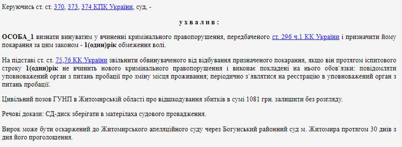 615c05c96a9a4 original w859 h569 - У Житомирі судили чоловіка, який ногою розбив скло в дверях райуправління поліції на Лесі Українки