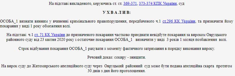 615c3090d8a4e original w859 h569 - У місті Житомирської області чоловік сокирою побив автомобіль та вікна в чужій квартирі і отримав 3 роки позбавлення волі